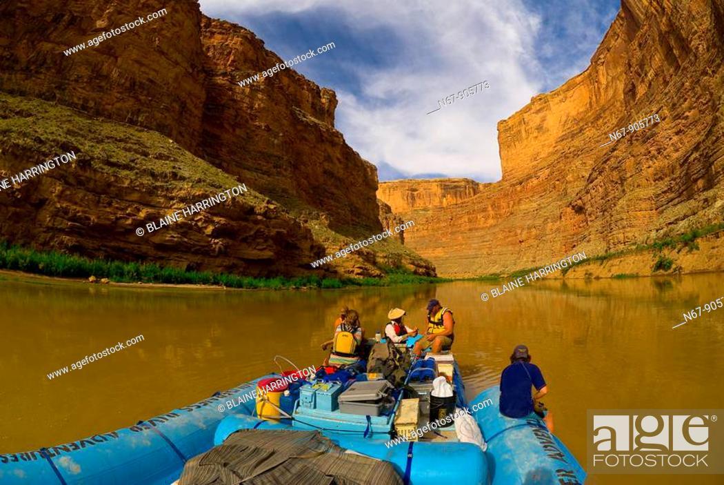 Stock Photo: Narrow Canyon, Colorado River, Glen Canyon National Recreation Area, Utah USA.