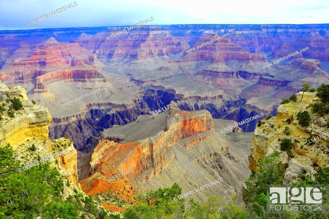 Stock Photo: South Rim Vista Grand Canyon National Park Arizona.