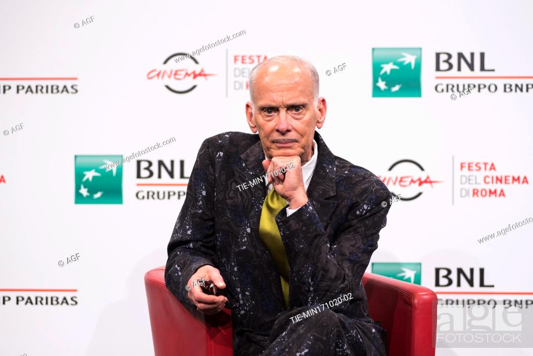 Stock Photo: John Waters attends the photocall during the 15th Rome Film Festival on October 17, 2020 in Rome, Italy.