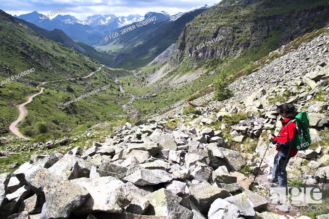 Stock Photo: Valle de Guarrinza. Valle de Hecho. Aragonese Pyrenees. Huesca Province. Spain.