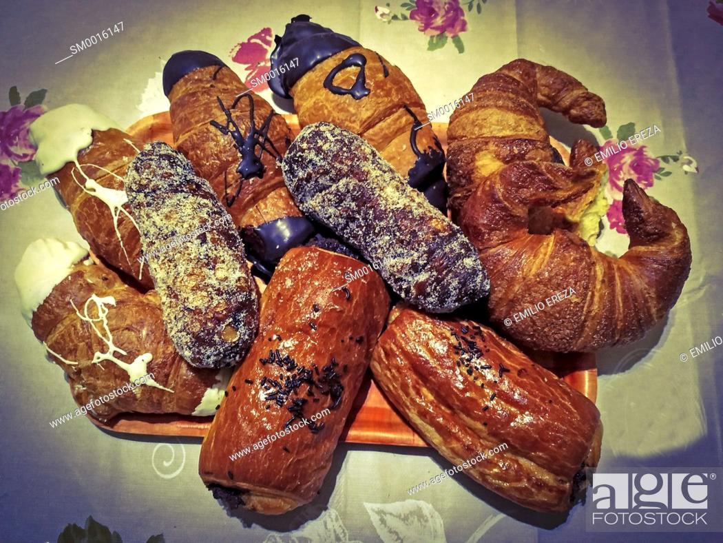 Stock Photo: Varied pastries.