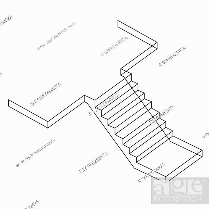 Staircase In Reinforced Concrete Stock Photos And Images