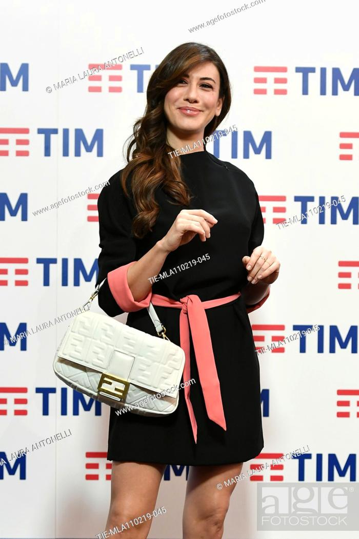 Imagen: Virginia Raffaele during the final press conference of 69th Sanremo Music Festival, Sanremo, ITALY- 10-02-2019.