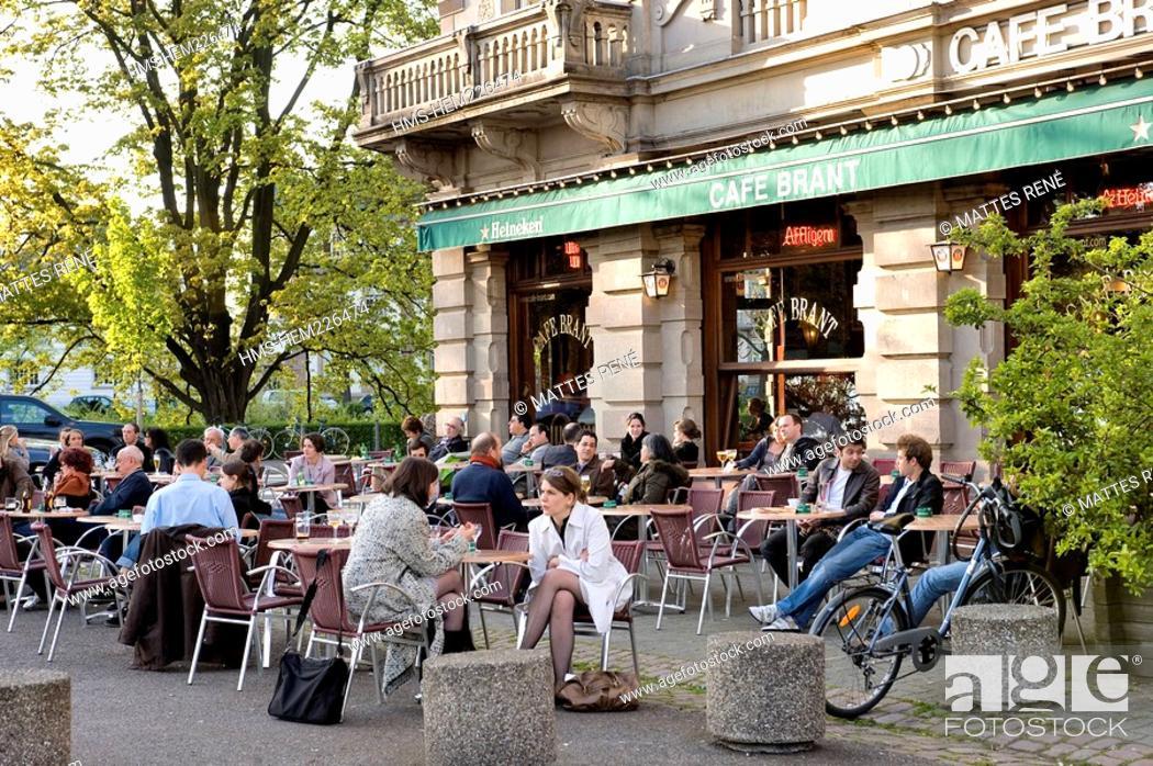 Stock Photo: France, Bas Rhin, Strasbourg, Brant cafe.