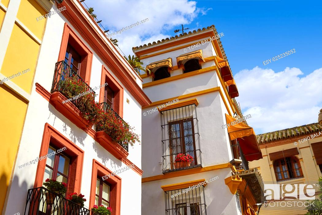 Stock Photo: Sevilla old town near calle Agua Vida st in andalusia Spain.