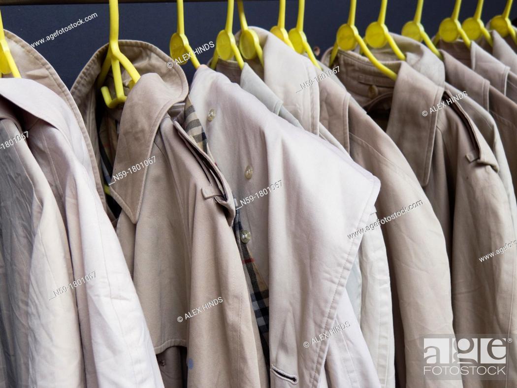Stock Photo: Macintosh rain coats.