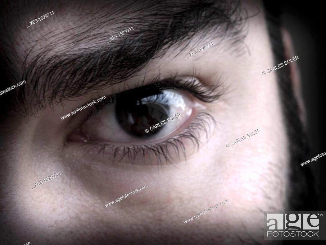 Stock Photo: Challenging eye.