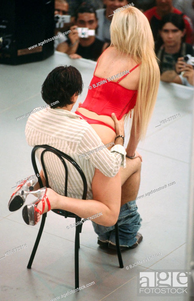 Stock Photo: Sex show, FICEB (International Erotic Film Festival of Barcelona). Barcelona. Spain.