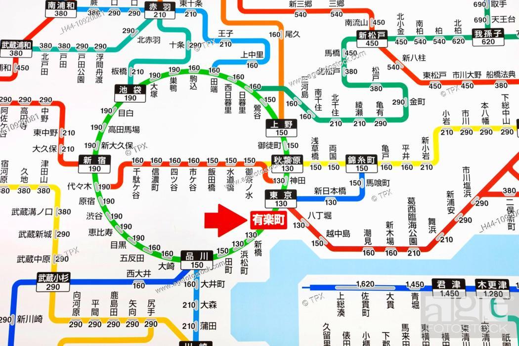 Map Of Asia And Japan.Asia Japan Tokyo Train Map Tokyo Railway Map Jr Japan Railways