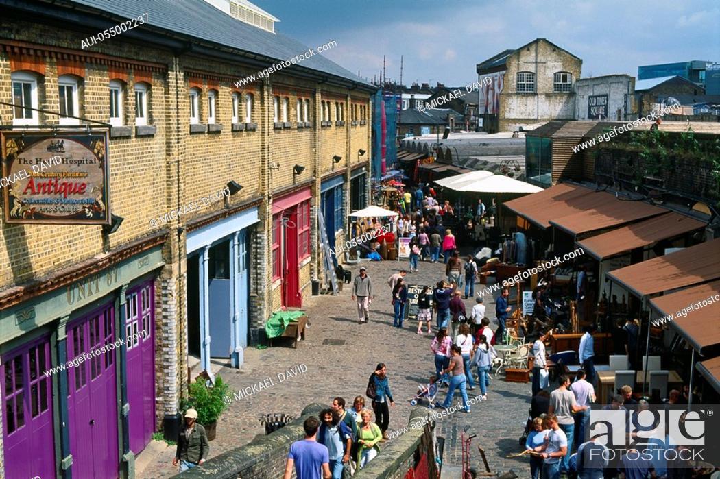 Stock Photo: England - London - Camden Town district and Camden Lock Market.