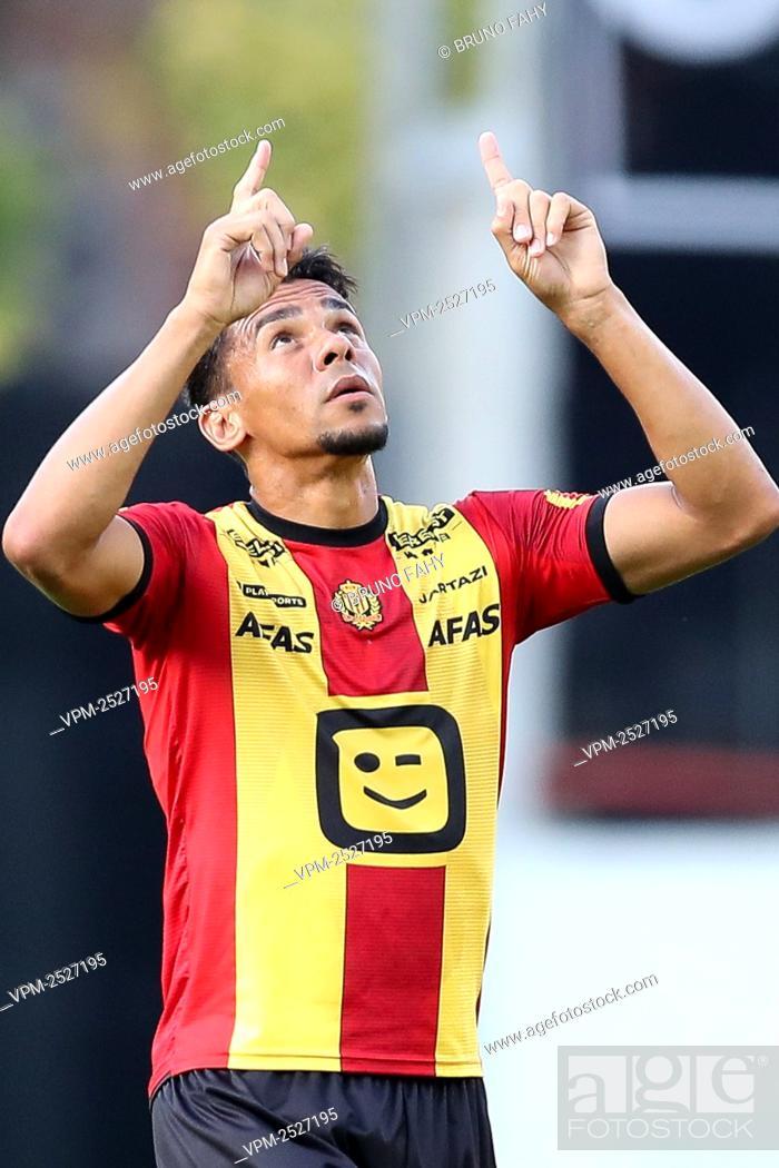 Imagen: Mechelen's Igor de Camargo celebrates after scoring 1-2 goal during the Jupiler Pro League match between KV Mechelen and RSC Anderlecht, in Mechelen.