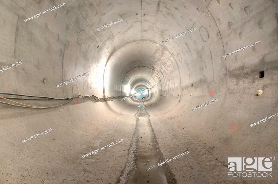 Imagen: Baustelle eines U-Bahn-Tunnels.
