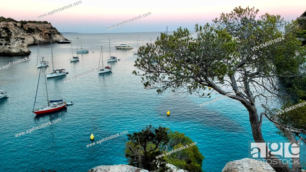Stock Photo: Macarella bay, Menorca, Spain.