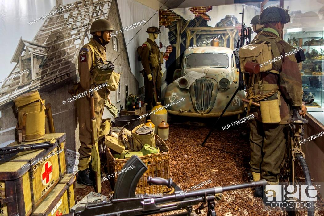 Diorama Showing British Commandos At The Memorial World War Ii Museum At Quineville Manche Stock Photo Picture And Rights Managed Image Pic Plp 170630p058 Agefotostock
