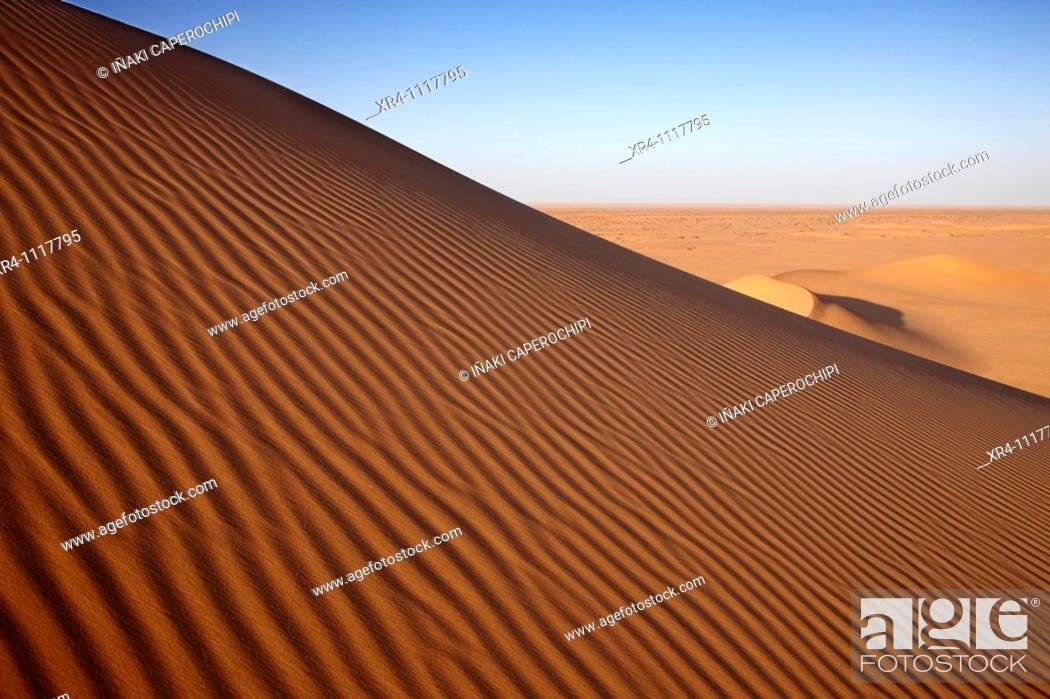 Stock Photo: Sand dunes, Idehan Murzuq, Ghat, Libia.