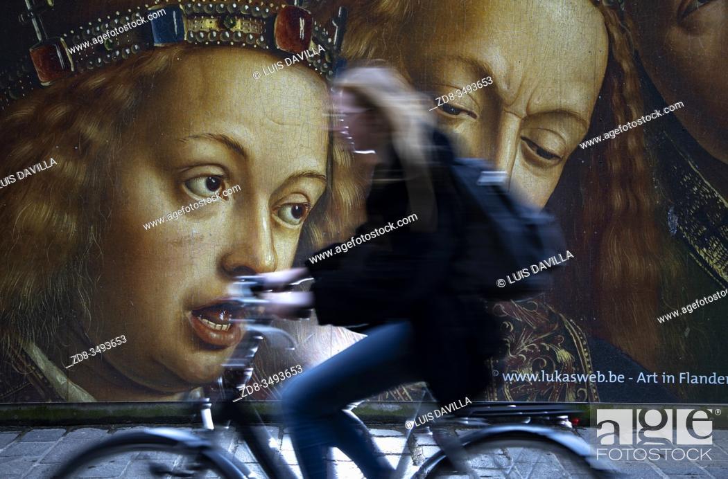 Imagen: Street poster of the Van Eyck 2020 commemoration. Ghent. Belgium.