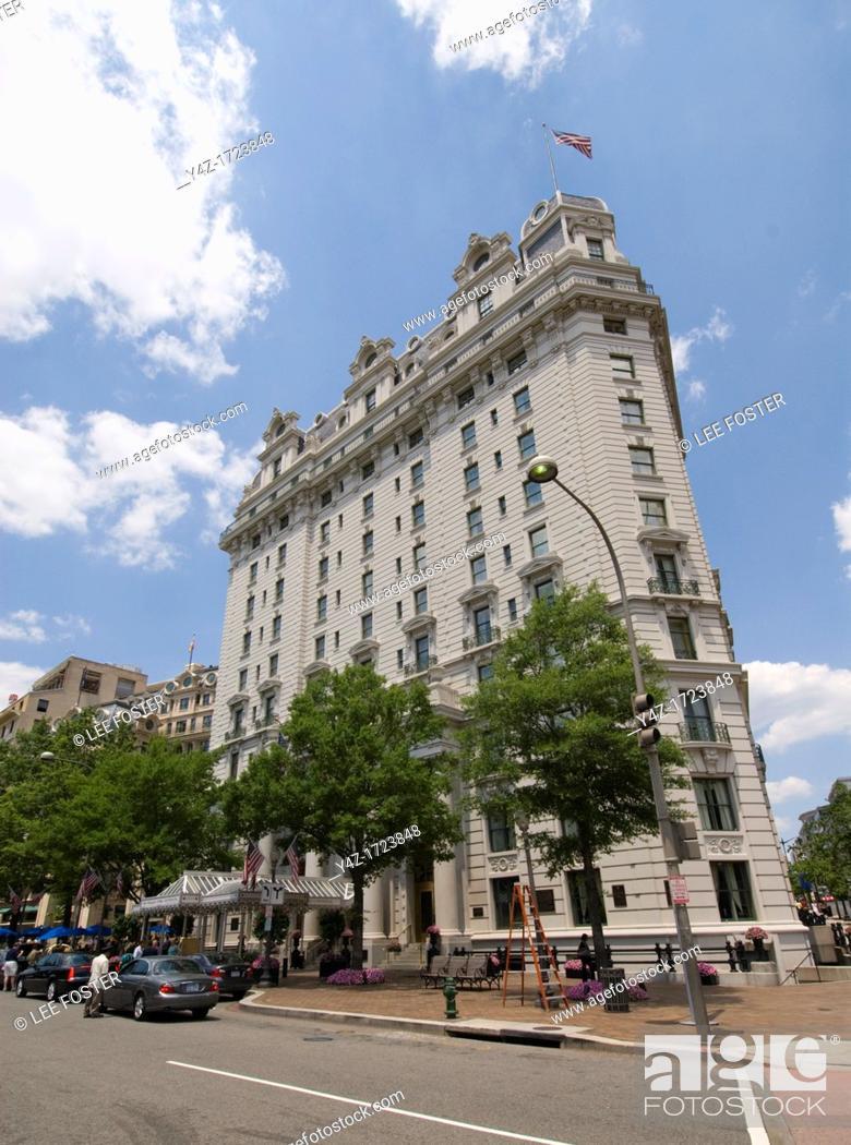 Stock Photo: Washington DC, USA, the Willard InterContinental Hotel, 1401 Pennsylvania Avenue.