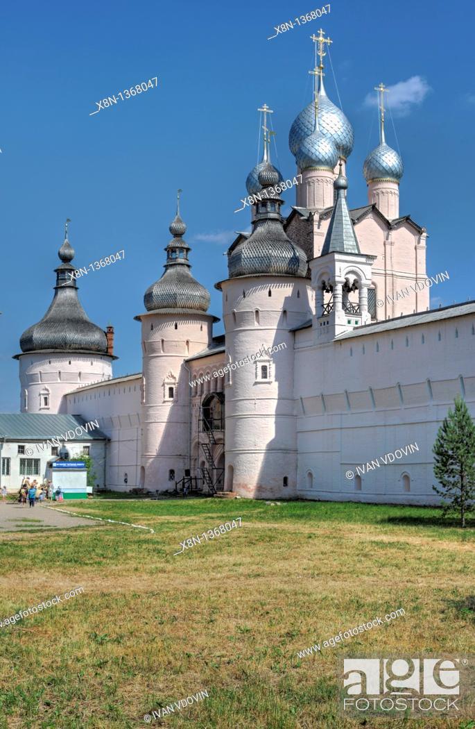 Stock Photo: Rostov Kremlin, Rostov, Yaroslavl region, Russia.