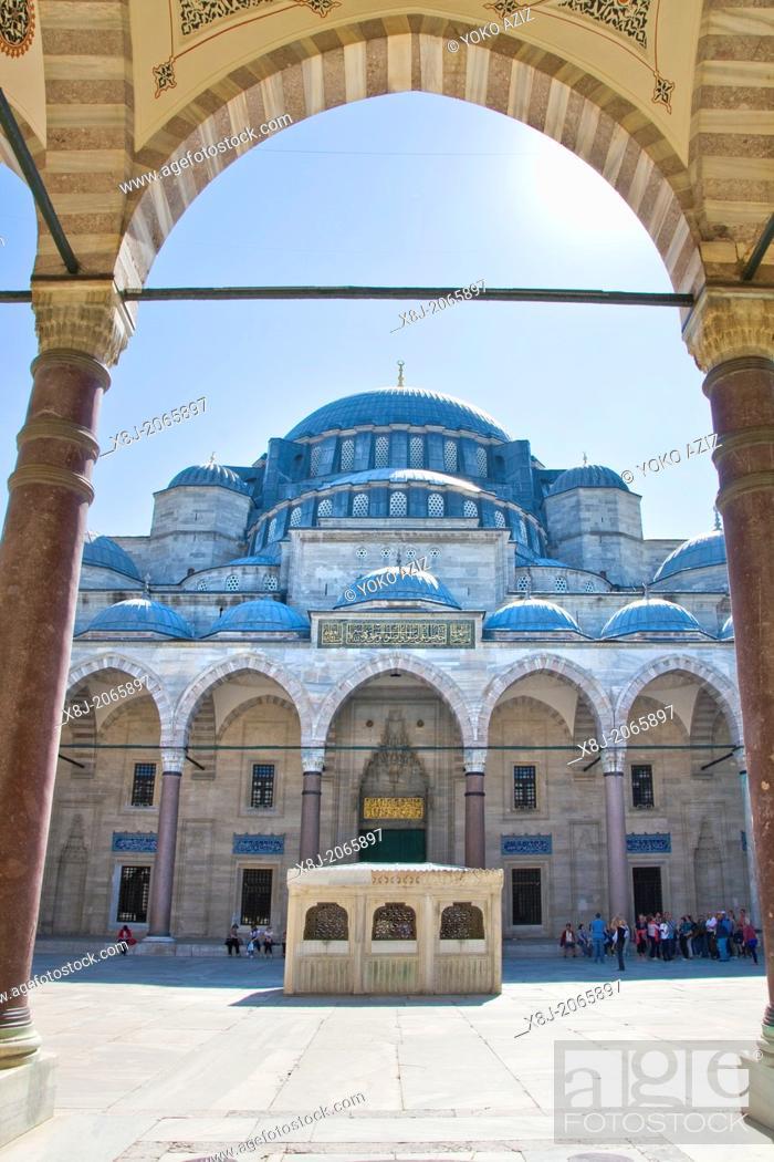 Stock Photo: Turkey, Istanbul, Suleymaniye Mosque.