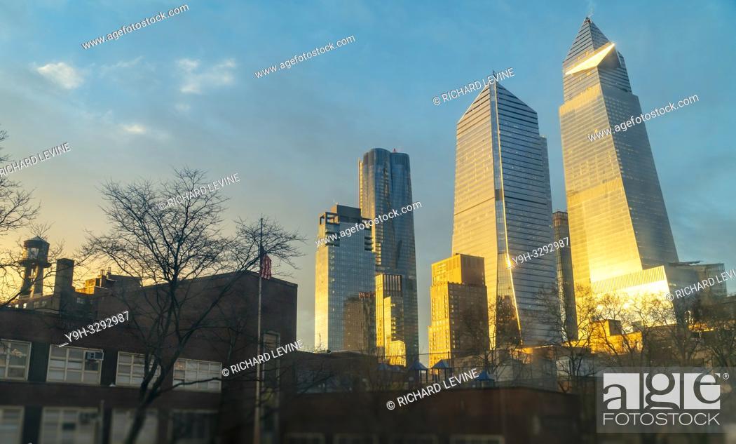 Stock Photo: New York NY/USA-January 24, 2019 10 Hudson Yards development in New York on Thursday, January 24, 2019. (© Richard B. Levine).