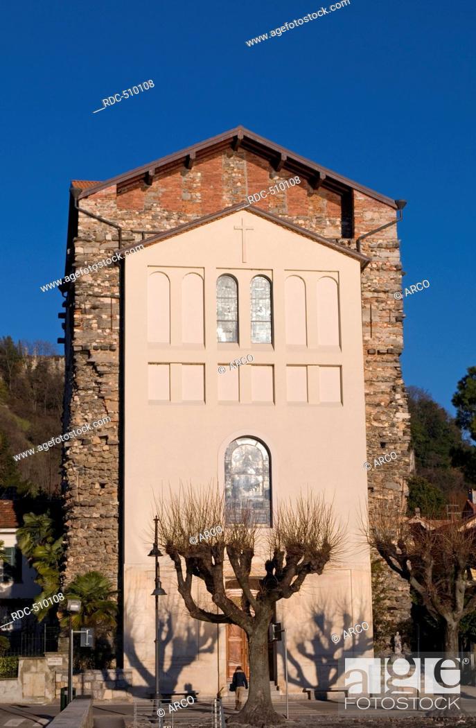 Stock Photo: santuario madonna della riva (sanctuary), Angera, Lake Maggiore, Italy.