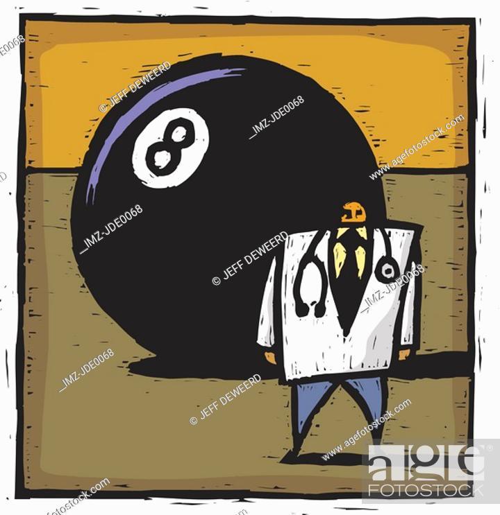 Stock Photo: Eightball and doctor.