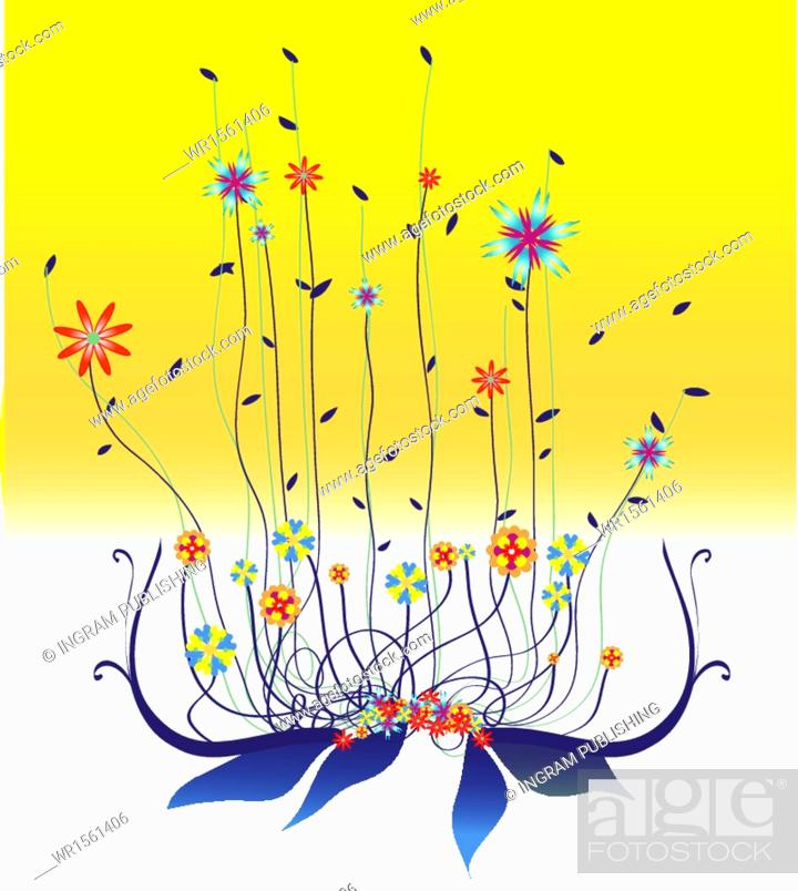 Stock Vector: Color Image, Nature, Beauty, Grass, Elegance, Flower, Backgrounds, Plant, Ornament, Silhouette, Spring, Field, Meadow, Leaf, Art, Pattern, Space, Abstract, Design, Illustration, Fashion, Beautiful, Season, Garden, Easter, Style, Botany, Ornate, Branch, Decoration