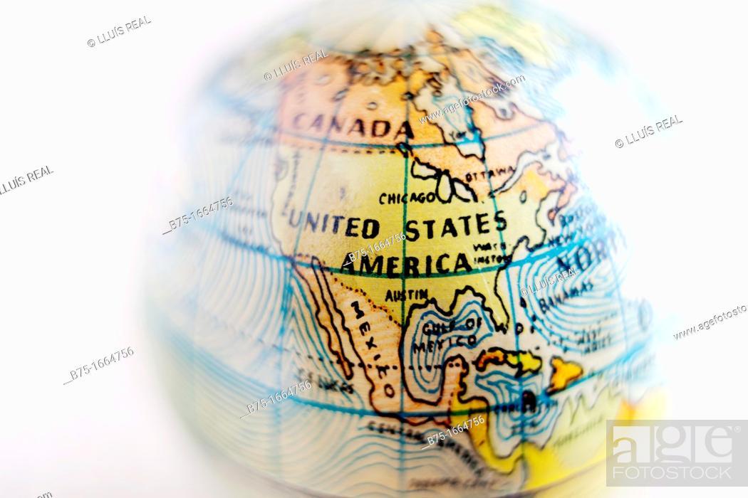 Stock Photo: Earth globe.