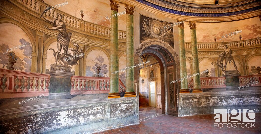 Stock Photo: Hallway entrance Interior of Baroque Villa Palagonia - Baghera Sicily.