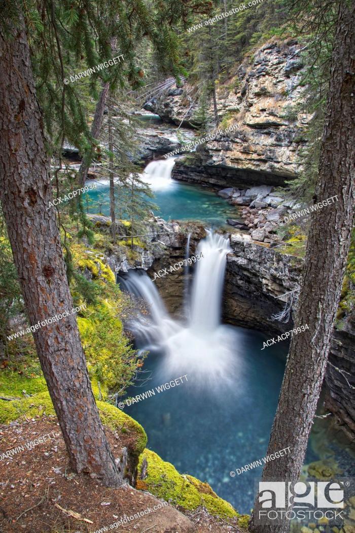 Stock Photo: Johnston Canyon, Banff National Park, Alberta, Canada.