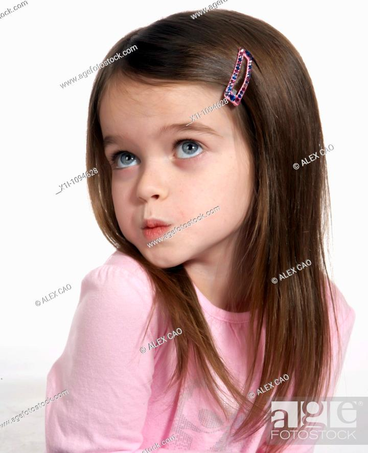 Stock Photo: Portrait of girl.