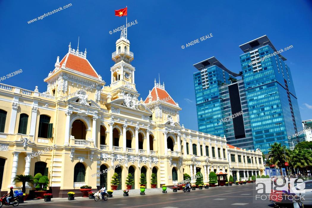 Stock Photo: Ho Chi Minh City Hall, Vietnam.
