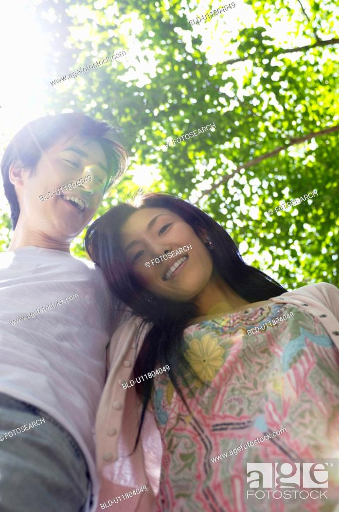 Stock Photo: Couple with fresh green.