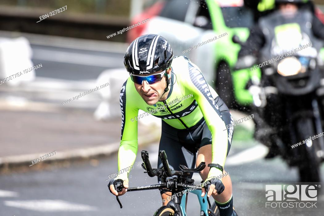 Imagen: Mikel Bizkarra Etxegibel at Zumarraga, at the first stage of Itzulia, Basque Country Tour. Cycling Time Trial race.