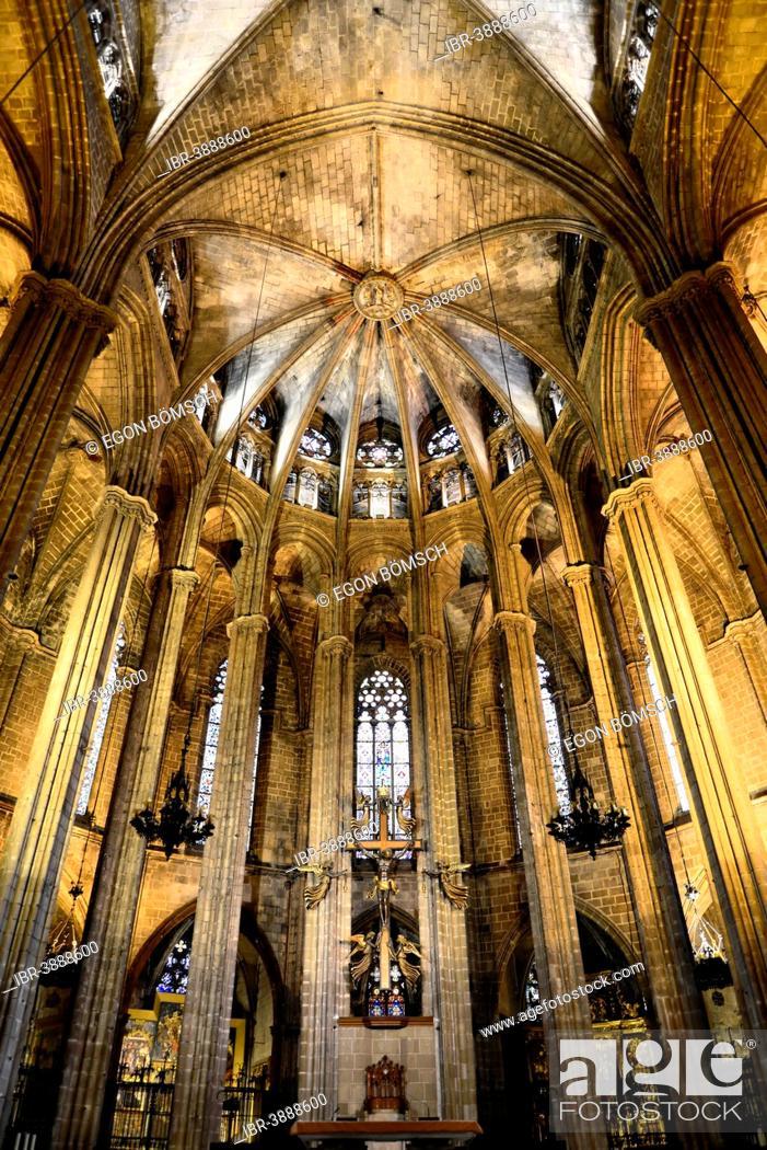 Choir Interior View La Catedral De Santa Creu I Santa Eulalia Barri Gòtic Barcelona Catalonia Stock Photo Picture And Rights Managed Image Pic Ibr 3888600 Agefotostock