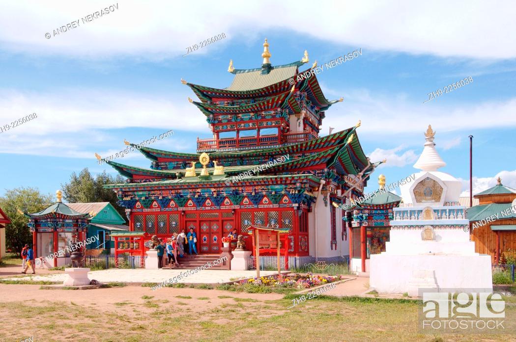 Stock Photo: Ivolginsky Datsan - Buddhist Temple, Buryatia, Russian Federation.