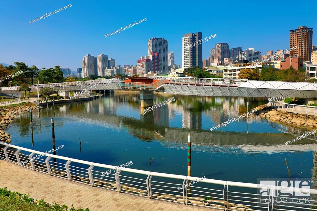 Stock Photo: The Heart of Love River, Kaohsiung City, Taiwan.