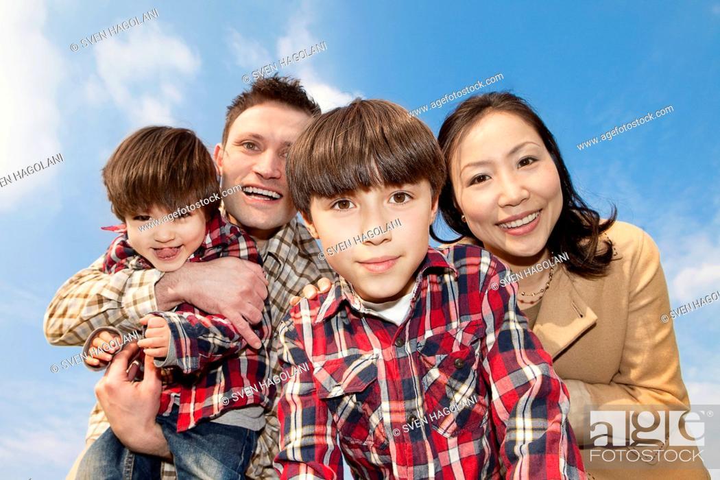 Stock Photo: A family portrait.