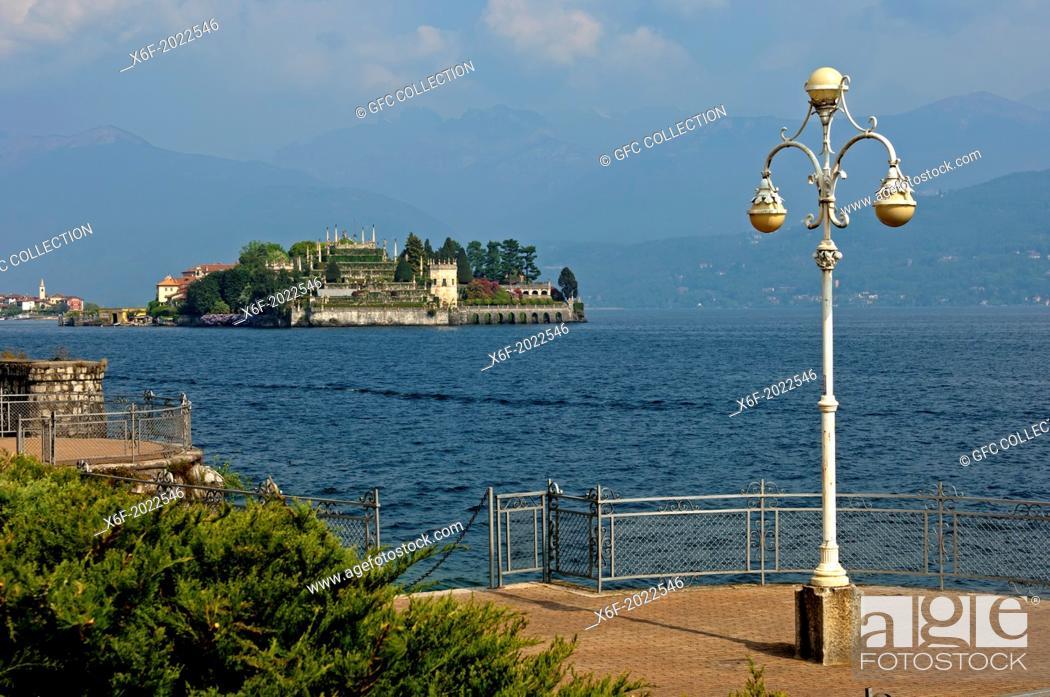 Stock Photo: Isola Bella island, Borromean Islands, Stresa, Lago Maggiore lake, Piedmont, Italy.