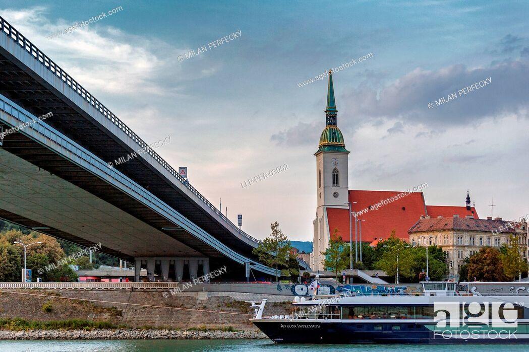Stock Photo: St. Martin's Cathedral, Bratislava, Slovakia.