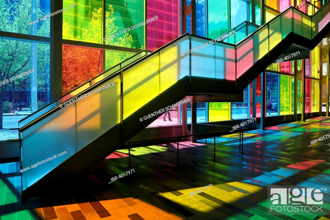 Stock Photo: Foyer, Palais des congrès de Montréal convention center, Montreal, Quebec Province, Canada.