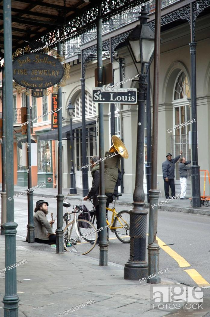 Stock Photo: Rue St. Louis, Frenc Quarter, New Orleans.