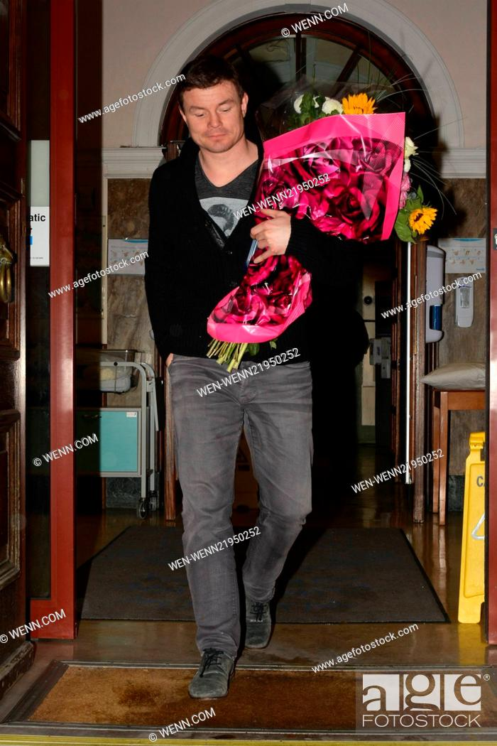 New dad Brian O'Driscoll leaving The National Maternity