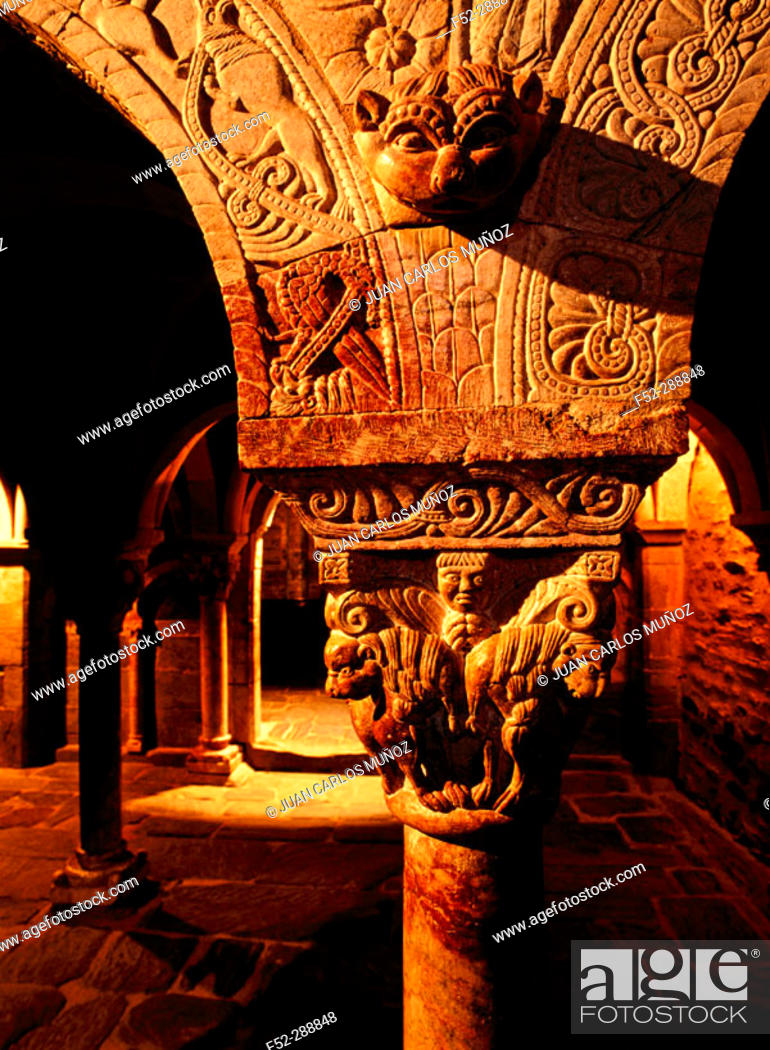Stock Photo: Priory of Serrabona. Pyrenees-Orientales. Languedoc-Roussillon. France.