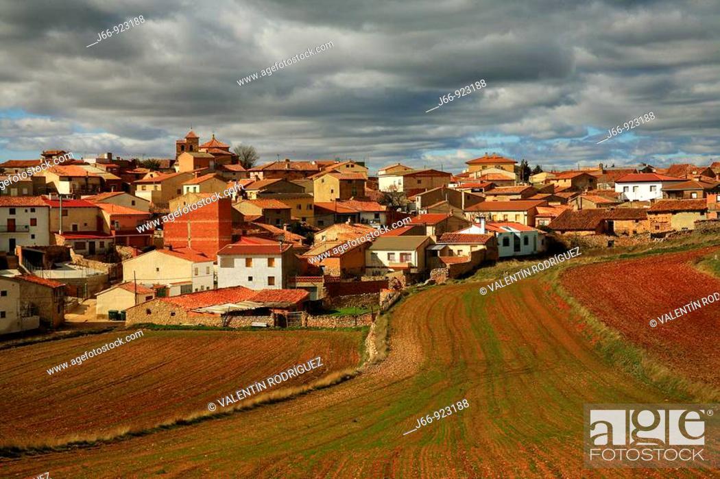 Stock Photo: Torralba de los Frailes, Zaragoza Province, Aragon, Spain.