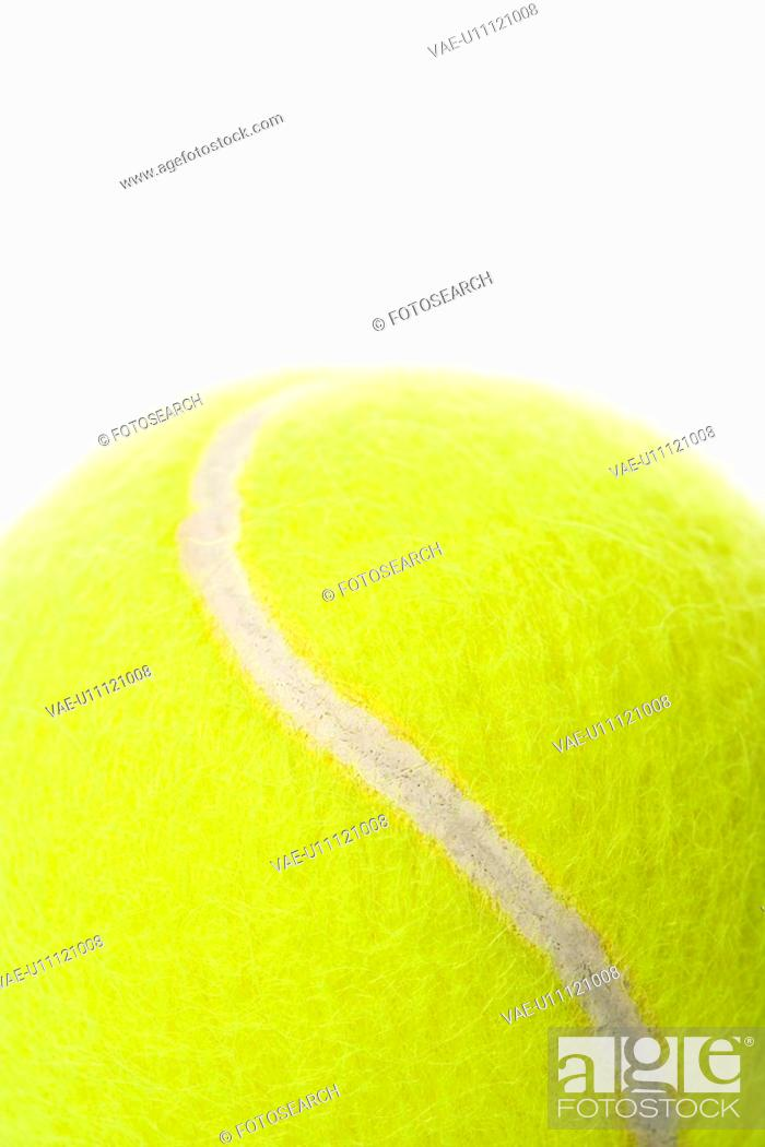 Stock Photo: Detail of a tennis ball.