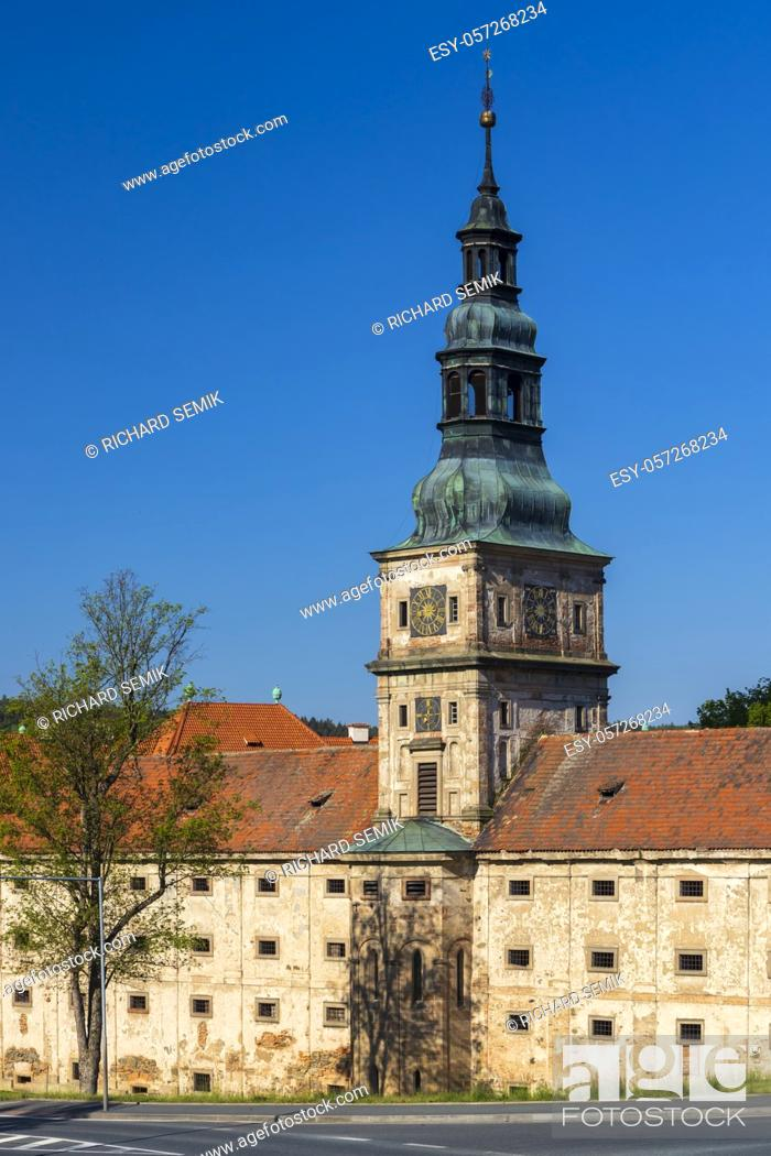 Stock Photo: Baroque cistercian Plasy monastery, Plzen region, Czech Republic.