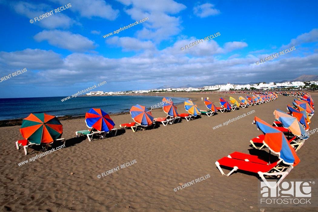 Stock Photo: Spain - Canary Islands - Lanzarote - Puerto del Carmen.