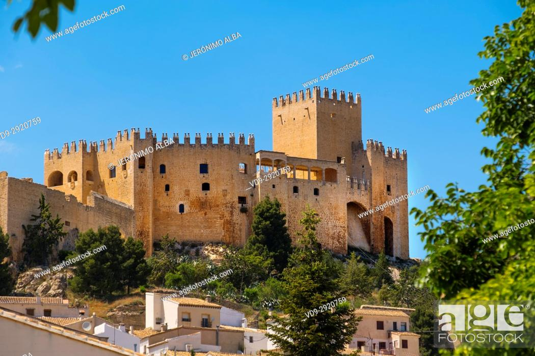 Stock Photo: Moorish castle and village of Velez Blanco. Almeria province, Andalusia, Southern Spain Europe.