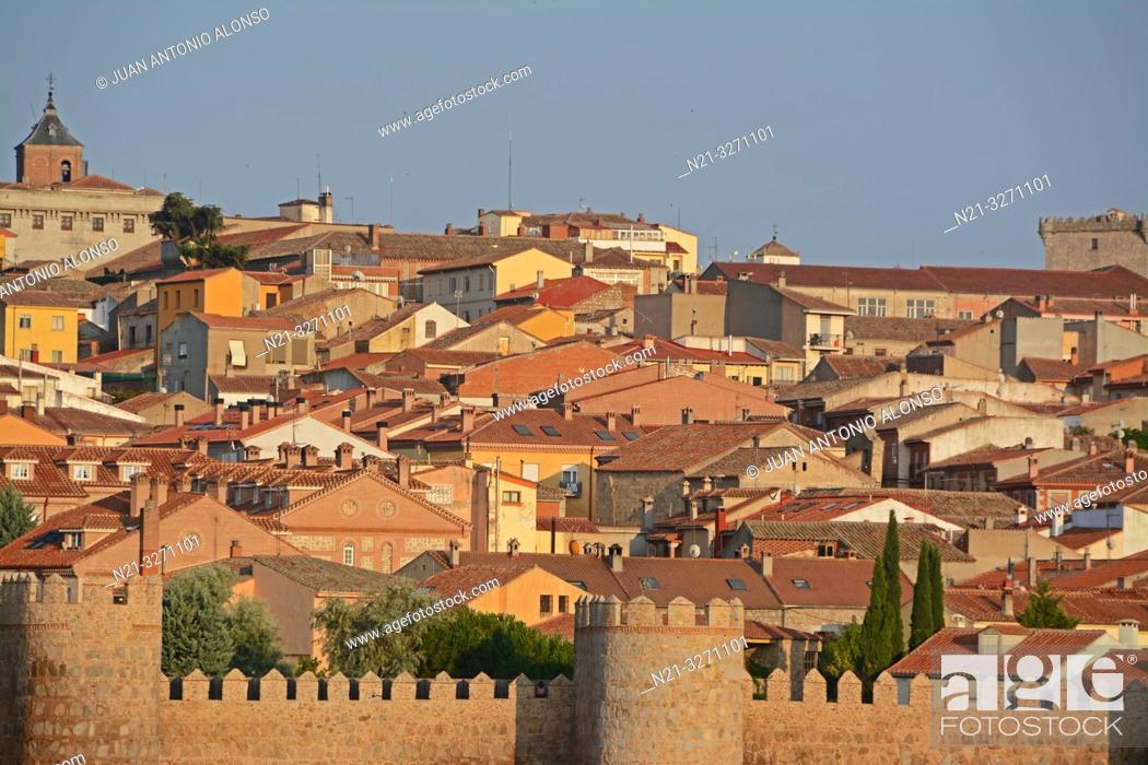 Imagen: Partial view of the fortified city of Avila with the Cathedral of Christ the Saviour standing out. Castilla-Leon, Spain, Europe.